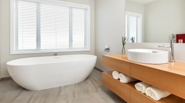 Landmark Homes Karapiro Design Bathroom - Landmark Homes bathroom, bathroom sink, floor, interior design, plumbing fixture, product design, room, tap, window, white