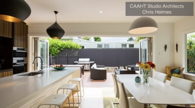Highly Commended – CAAHT Studio Architects – TIDA countertop, dining room, interior design, kitchen, real estate, gray