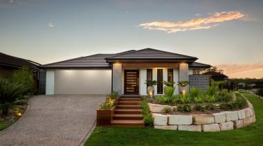 Monier Concrete Tiles - Horizon - Monier Concrete backyard, cottage, elevation, estate, facade, home, house, landscape, property, real estate, residential area, sky, gray, brown