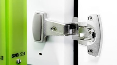 An opening angle of up to 270° guarantees hardware, hardware accessory, hinge, lock, product, product design, white