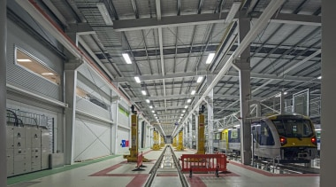 EXCELLENCE AWARDWiri Electric Train Maintenance and Stabling Facility factory, metropolitan area, public transport, structure, gray, black