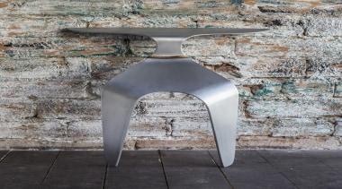 Czech Designer Petr Badura has created this unique chair, furniture, table, gray