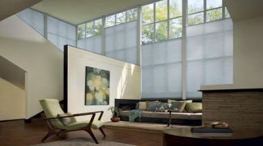 luxaflex duette shades - luxaflex duette shades - architecture, ceiling, daylighting, floor, home, interior design, living room, shade, wall, window, window covering, window treatment, gray