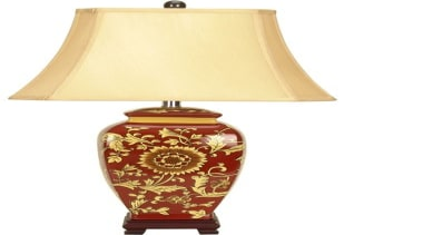 FeaturesDaoming (Dow-ming) is a part of our Chinese ceramic, lamp, light fixture, lighting, table, white