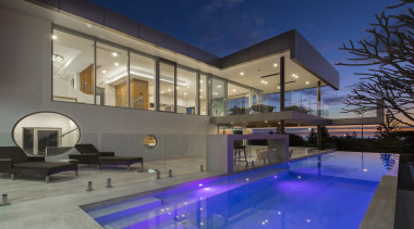 Romano Homes - Highly Commended – 2016 TIDA apartment, architecture, condominium, daylighting, estate, home, house, interior design, lighting, property, real estate, residential area, swimming pool, window, gray, blue