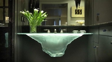 Glass Sink with some beautiful taps - countertop countertop, glass, interior design, plumbing fixture, sink, table, black