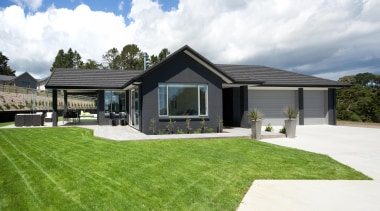 Greers ShowhomeFor more information, please visit www.gjgardner.co.nz architecture, cottage, elevation, estate, facade, farmhouse, grass, home, house, landscape, property, real estate, yard, white, green