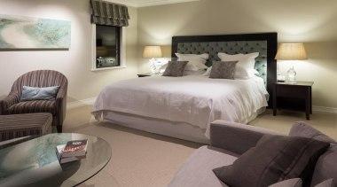 Mellons Bay 19 - bed   bed frame bed, bed frame, bedroom, ceiling, floor, furniture, home, interior design, room, suite, wall, gray