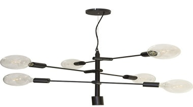 FeaturesThe Chelsea pendant is a mid-century look with light fixture, lighting, product design, white