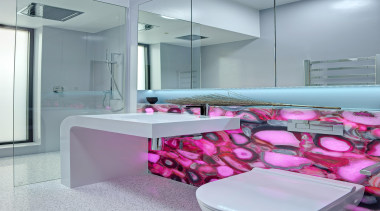 Winner Bathroom Design of the Year South Australia bathroom, countertop, floor, interior design, pink, product, purple, room, sink, gray