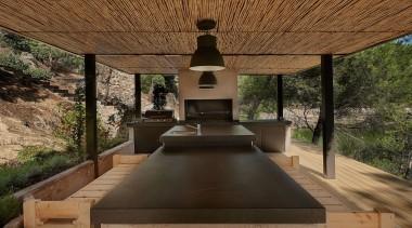 Dekton Color Kelya - Natural Collection Mesa Encimera architecture, house, outdoor structure, plant, tree, brown, black