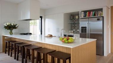 Armadale Road 3 - Armadale Road 3 - cabinetry, countertop, cuisine classique, dining room, interior design, kitchen, room, table, gray