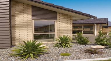 Flexible modern tones for today's builder.The Riverview range agave, estate, facade, home, house, landscaping, property, real estate, residential area, siding, window, brown, gray