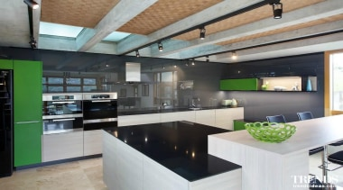 Winner – Imported Kitchen – Proudly brought to countertop, interior design, kitchen, loft, real estate, gray