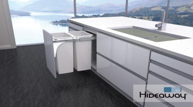 Hideaway Soft Close SC240D-W in a kitchen environment. product, property, gray, black