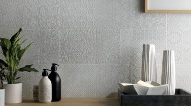 La Chic - ceramic | floor | flooring ceramic, floor, flooring, flowerpot, furniture, interior design, product design, still life photography, tap, tile, wall, wallpaper, gray