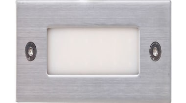 FeaturesA rectangular recessed stairlight incorporating an LED light lighting, product design, rectangle, gray, white