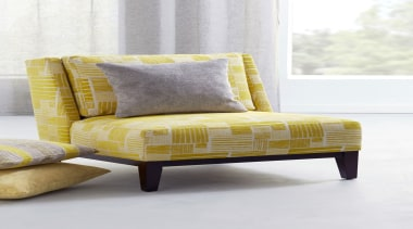 Leger 5 - bed frame | chair | bed frame, chair, couch, cushion, furniture, loveseat, sofa bed, studio couch, yellow, white