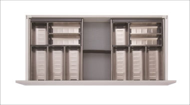 All Impala Inoxa components are available individually so, filing cabinet, furniture, product, shelf, shelving, white