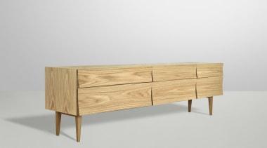 Designed by Scandinavian design company Soren Rose Studio, chest of drawers, drawer, furniture, sideboard, white, gray