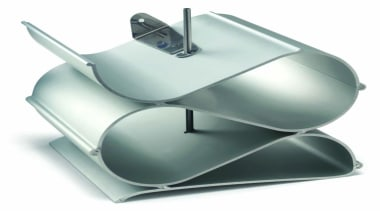 Made from extruded aluminium and coated with natural product, product design, white, gray