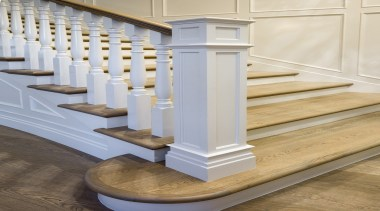 Stairway - baluster   floor   flooring   baluster, floor, flooring, handrail, molding, product design, stairs, structure, gray