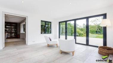 Concreate CF103 Beatrice 5110 - Concreate_CF103_Beatrice_5110 - architecture architecture, estate, floor, flooring, house, interior design, living room, property, real estate, window, wood flooring, white
