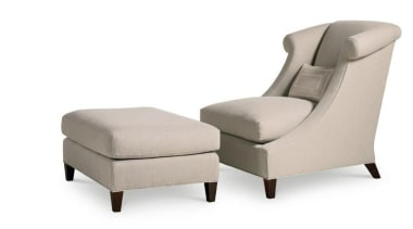 """""""Upholstery helps set the foundation for how a angle, chair, club chair, comfort, couch, furniture, product, product design, white"""