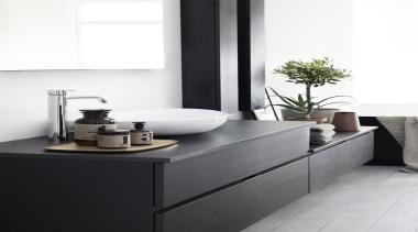 SiD - Dekton - SiD - Dekton - bathroom, bathroom accessory, bathroom cabinet, bathroom sink, ceramic, floor, furniture, interior design, plumbing fixture, product design, sink, tap, white, black