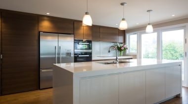 Kitchen - cabinetry | countertop | cuisine classique cabinetry, countertop, cuisine classique, interior design, kitchen, real estate, room, gray, brown