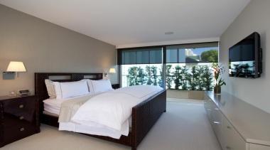 Luxaflex motorised roller blinds - Luxaflex motorised roller architecture, bedroom, ceiling, hotel, interior design, property, real estate, room, suite, gray