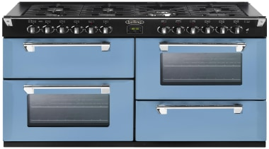 Belling Richmond 1100 range in Colour Days break gas stove, home appliance, kitchen appliance, kitchen stove, major appliance, product, teal, black
