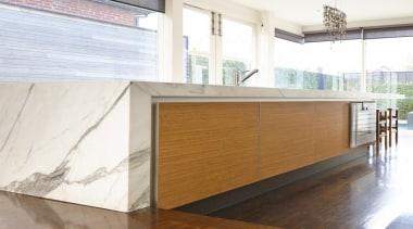Pepper Design - Poggenpohl kitchen with Teak finish architecture, countertop, floor, flooring, furniture, interior design, plywood, wall, wood, white