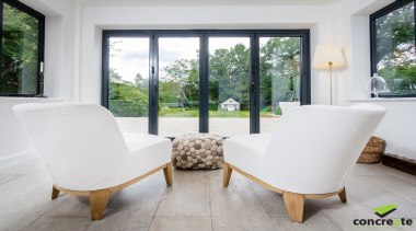 Concreate CF103 Beatrice 5121 - Concreate_CF103_Beatrice_5121 - architecture architecture, chair, estate, floor, furniture, home, house, interior design, living room, property, real estate, table, window, gray, white