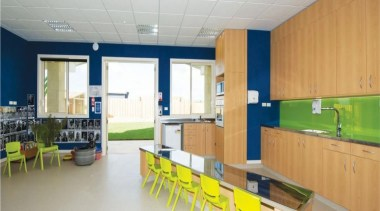 Cumberland Early Education Centre - Cumberland Early Education institution, interior design, kitchen, real estate, room, gray, orange