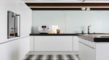 Black and White Kitchen IdeasFor more information, please countertop, home appliance, interior design, kitchen, white