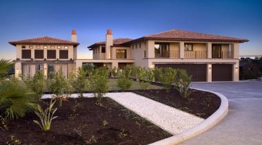 159mangawhai 1 - mangawhai_1 - building | elevation building, elevation, estate, facade, home, house, landscaping, mansion, property, real estate, residential area, roof, villa, blue
