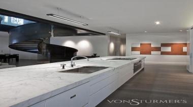 Landmark Villa Renovation - Landmark Villa Renovation - architecture, cabinetry, ceiling, countertop, floor, interior design, kitchen, gray