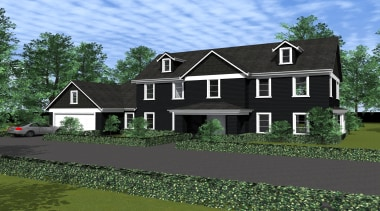 22 renosunnyside2 - Renosunny Side2 - architecture | architecture, cottage, elevation, estate, facade, farmhouse, home, house, property, real estate, residential area, roof, siding, suburb, black