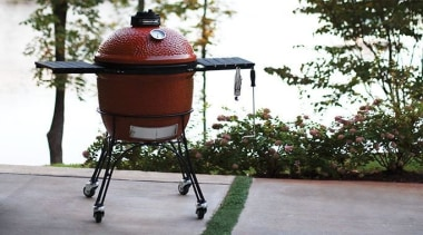 View the Kamado Joe Range outdoor grill, plant, product, gray, white