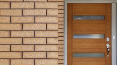 The Austral Bricks Hallett range is recognised by brick, brickwork, hardwood, lumber, material, wall, window, wood, wood stain, orange, brown