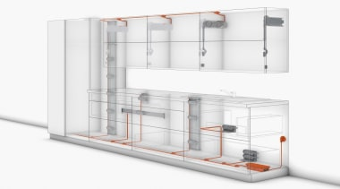 Ergonomic and efficient thanks to SERVO-DRIVE a quick display case, product, shelf, shelving, white