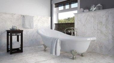 I Marmi - bathroom | bathtub | floor bathroom, bathtub, floor, flooring, interior design, plumbing fixture, product, product design, room, tap, tile, wall, gray, white