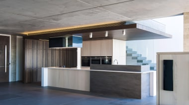 Winner Kitchen Design and Kitchen of the Year architecture, ceiling, daylighting, house, interior design, lobby, gray, black