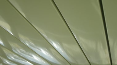 The beautiful 200mm Louvre Blades in a closed ceiling, daylighting, light, line, structure, green