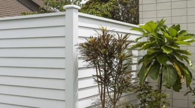 Simpler. Faster. Proven Weathertight. - A-lign Fencing - facade, fence, home fencing, outdoor structure, siding, window, gray, brown