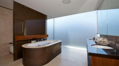 Bedroom ensuite - Bedroom ensuite - architecture | architecture, bathroom, interior design, product design, real estate, room, sink, brown, gray