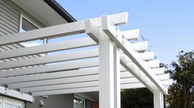 Tru-Pine - building | daylighting | facade | building, daylighting, facade, real estate, residential area, roof, siding, structure, white