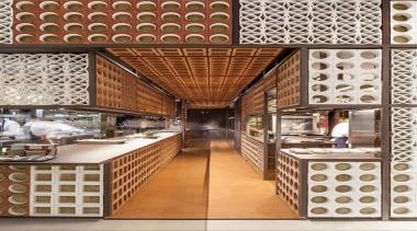 Disfrutar Restautant - Dekton Kadum Worktop flooring, interior design, brown, white