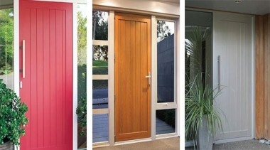 FIRST Latitude® entrance doors combine a clean linear curtain, door, home, house, interior design, real estate, screen door, window, window treatment, wood